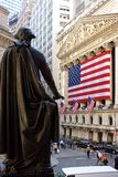 George Washington en el NYSE Fotografía de archivo libre de regalías