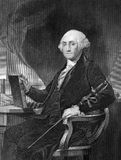 George Washington. (1731-1799) on engraving from 1859. First President of the U.S.A. during 1789-1797  and commander of the Continental Army in the American Royalty Free Stock Photography