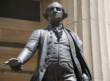 George Washington at Federal Hall. George Washington Statue at Federal Hall in New York City Royalty Free Stock Image