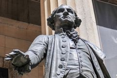 George Washington - Federal Hall. George Washington Monument at Federal Hall in Lower Manhattan, New York City Royalty Free Stock Photo