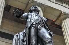 George Washington, Federal Hall, New York. George Washington Statue at Federal Hall National Monument in New York City Stock Photo