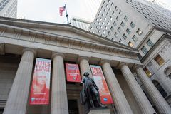 George Washington at Federal Hall in NYC Royalty Free Stock Photo