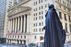George Washington, Federal Hall, Wall St, Manhattan, NY Royalty Free Stock Photos