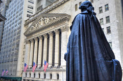 George Washington, Federal Hall, Wall St, Manhattan, NY Royalty Free Stock Image
