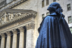 George Washington, Federal Hall, Wall St, Manhattan, NY Royalty Free Stock Photo