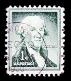 George Washington 1732-1799, first President of the U.S.A., Liberty issue serie, circa 1954 royalty free stock photos
