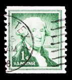 George Washington (1732-1799), first President of the U.S.A., Liberty issue serie, circa 1954 stock photos