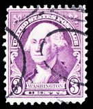 George Washington, by Gilbert Stuart, Regular Issue serie, circa 1932 royalty free stock photo