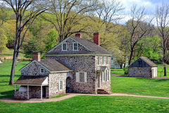 George Washington Headquarters bij Vallei smeedt royalty-vrije stock afbeelding