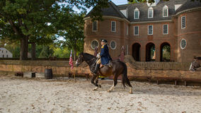 George Washington in historische Williamsburg Va Royalty-vrije Stock Foto's