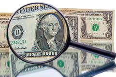 George Washington i magnifier Zdjęcie Stock