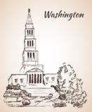 George Washington Masonic National Memorial - Etats-Unis illustration libre de droits