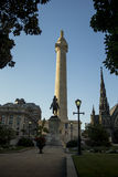 George Washington Monument in Baltimore Maryland Stock Photos