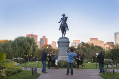 The George Washington Monument  Boston Public Garden, Royalty Free Stock Photography