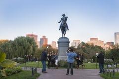 The George Washington Monument  Boston Public Garden, Royalty Free Stock Photography