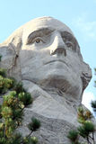 George Washington at Mount Rushmore. A view of George Washington as seen at Mount Rushmore in South Dakota. This close up gives you a better idea of the work Royalty Free Stock Images