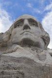 George Washington On Mount Rushmore. The face of George Washington on Mount Rushmore Stock Photos