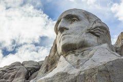 George Washington On Mount Rushmore. The face of George Washington on Mount Rushmore Royalty Free Stock Image