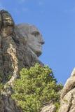 George Washington On Mount Rushmore. The face of George Washington on Mount Rushmore Royalty Free Stock Photo