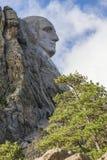 George Washington On Mount Rushmore. The face of George Washington on Mount Rushmore Stock Photo