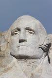George Washington - mount rushmore national memorial. Stone Sculptures of George Washington, Thomas Jefferson, Theodore Roosevelt, and Abraham Lincoln - black Stock Image