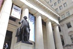 George Washington na área de NYSE Imagem de Stock