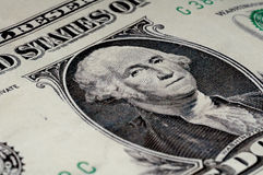 George Washington na conta de 1 dólar Foto de Stock