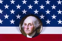 George Washington och USA flaggan Royaltyfria Foton