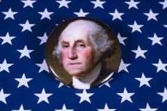 George Washington och USA flaggan Fotografering för Bildbyråer