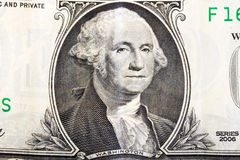 George Washington on one dollar banknote Stock Image