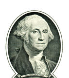 George Washington on one dollar Royalty Free Stock Images