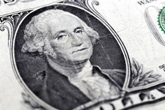 George Washington. It is George Washington  in one dollar note bank Stock Photos