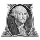 George Washington op Één Dollarrekening stock afbeeldingen
