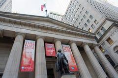 George Washington på federala Hall i NYC Royaltyfri Foto