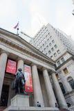 George Washington på federala Hall i NYC Fotografering för Bildbyråer