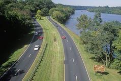 George Washington Parkway i Washington, D C Royaltyfria Bilder