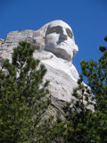 George Washington peering out from Mt Rushmore Royalty Free Stock Photos