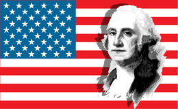 George Washington portrait Royalty Free Stock Photos