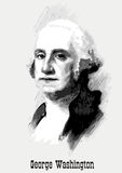 George Washington portrait. American President George Washington portrait vector illustration