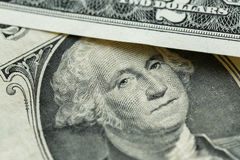 George Washington portrait on the us one dollar bill macro Royalty Free Stock Images
