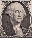George Washington portrait on the us one dollar bill macro, united states money closeup Stock Photography