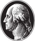 George Washington portreta rocznika styl Ilustracja Wektor