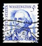 George Washington (1732-1799), primeiro presidente, serie famoso dos americanos, cerca de 1966 imagem de stock royalty free