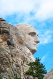 George Washington Profile. Profile of the face of George Washington in Mount Rushmore National Monument in South Dakota Stock Photos