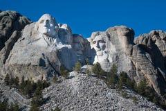 George Washington Profile on Mount Rushmore. In Black Hills of South Dakota Stock Images