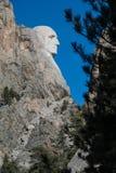 George Washington Profile on Mount Rushmore. In Black Hills of South Dakota Royalty Free Stock Photo
