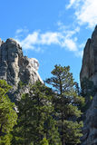 George Washington Profile View Mount Rushmore. This view  of the Monument can be seen from just outside the park on Highway 244 Royalty Free Stock Image