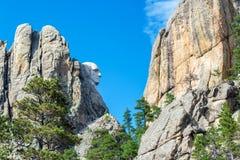 George Washington Profile. Profile view of George Washington at Mt Rushmore in South Dakota Royalty Free Stock Image