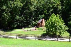 George Washington`s Mount Vernon Farming House royalty free stock image