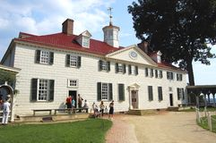 George Washington's Mount Vernon Stock Photo